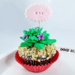 Cupcake Cacto do Dia da Mãe...