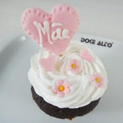 Cupcake Coração Dia da Mãe...