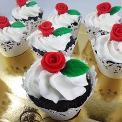 Cupcake Mini-Rosa (Un)