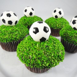 Cupcake Bola de Futebol (Un)