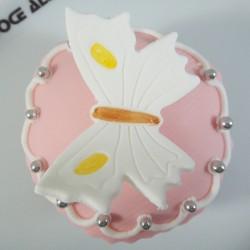Cupcake Borboleta Branca (Un)