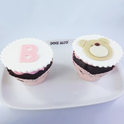 Cupcake Ursinho e Letra (Un)