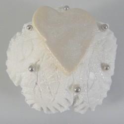 Cupcake Coração Branco (Un)
