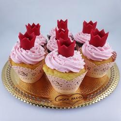 Cupcake Coroa Rosa (Un)