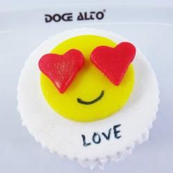 Cupcake Emoji apaixonado (Un)