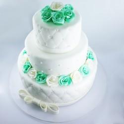 Almofado Branco e Verde