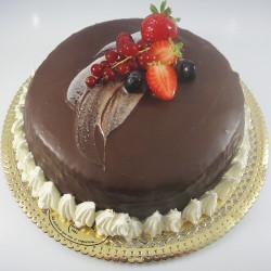 Bolo de Chocolate e Pêssego