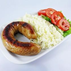 Alheira com Arroz e Salada...