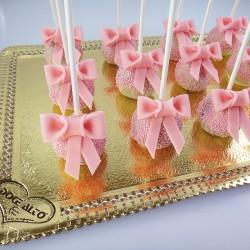 Popcakes com Laço Rosa (Un)