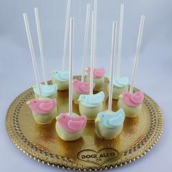 Popcakes Passarinhos Rosa e...