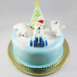Bolo de Natal - Urso Polar...
