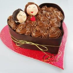 Coração de Chocolate com...