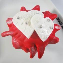 Cupcake 2 Corações com...