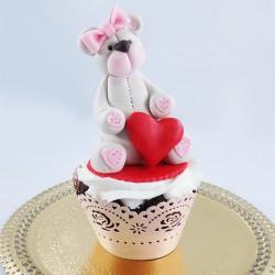 Cupcake Ursinho do Amor 3D...