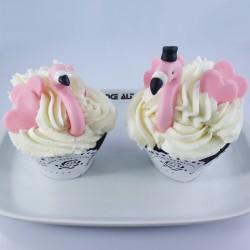 Cupcakes Casal de Flamingos...
